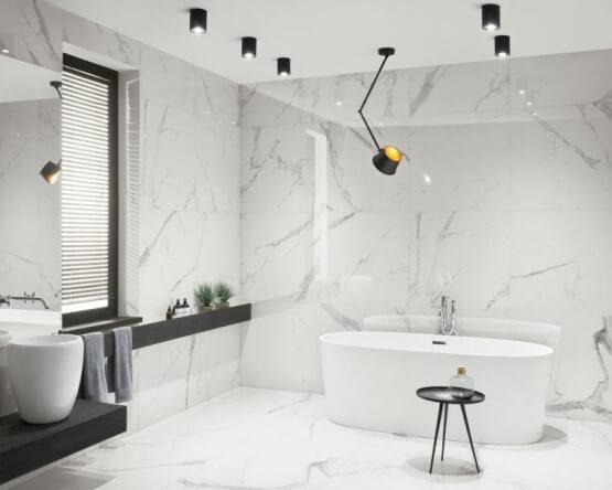 Płytki Tubądzin Pietrasanta, czyli wnętrza inspirowane marmurem